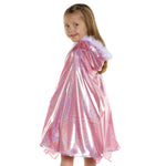 Pink Glitter Princess Cape, Ages 5-7