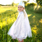 Princess Silver Sequins Reversible Cape