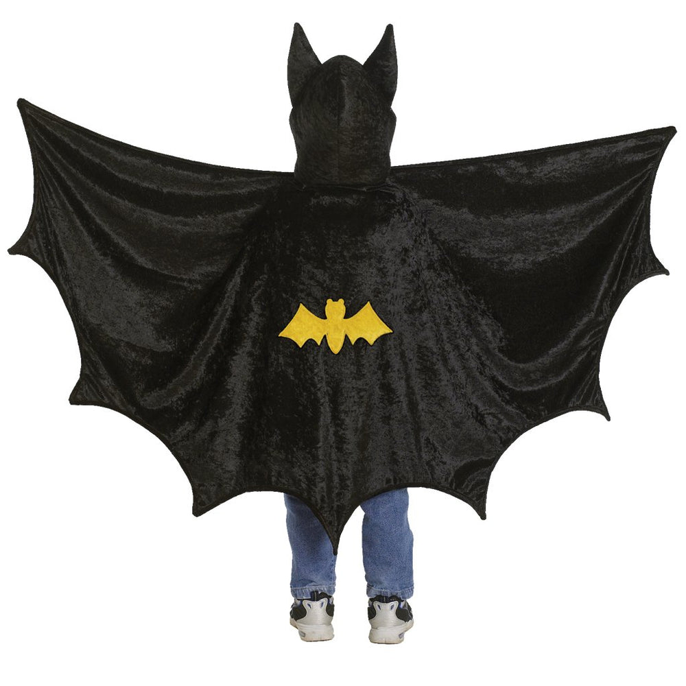 Hooded Bat Cape, Size 5-6Y