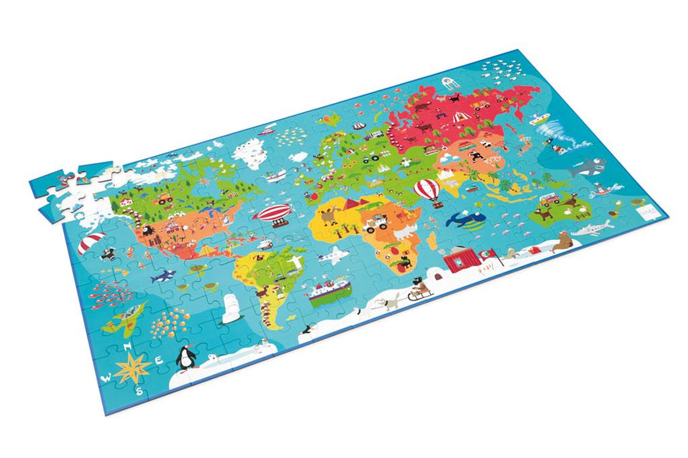 World Map, 150 Pieces