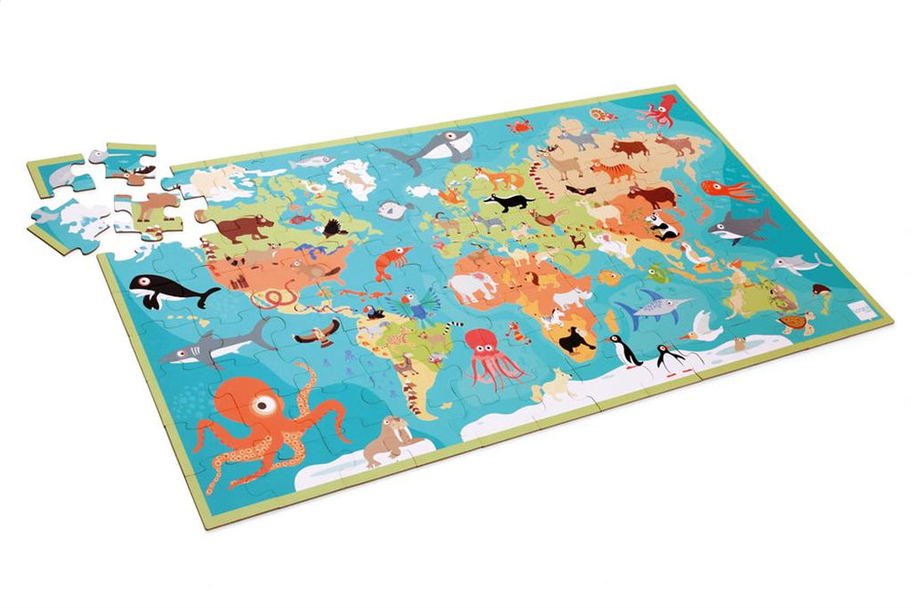 Animals of the World Puzzle, 100 Pieces