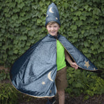 Starry Night Wizard Cape & Hat, 5-6Y