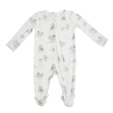 Hippo Grey Zipper Footie Angel Dear