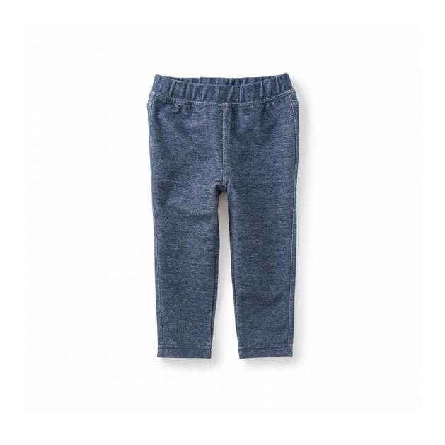 Stretch Denim-Like Pant, Dark Wash