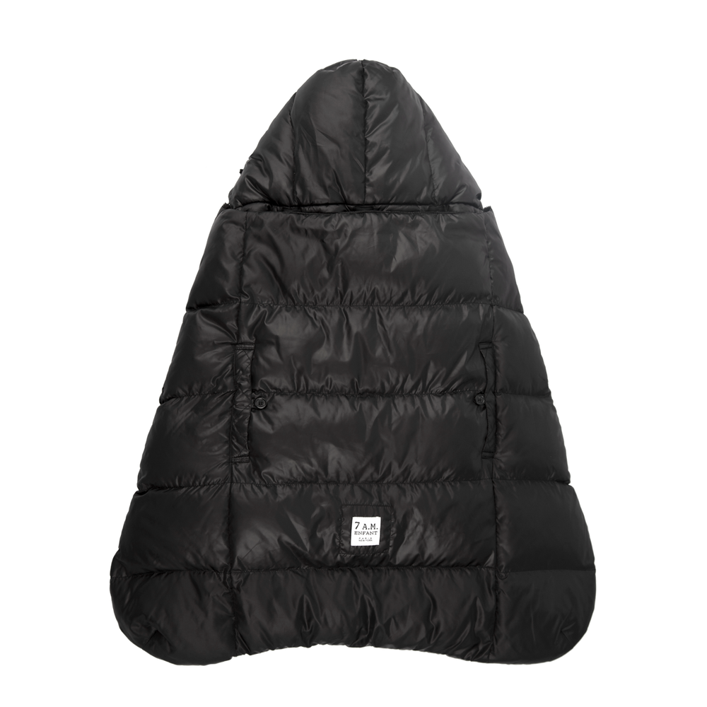 K-Poncho Heavyweight, Black Plush