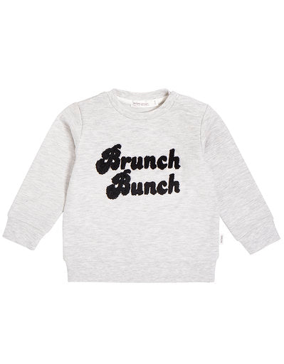 Miles Baby Brunch Bunch Knit Top, Heather Grey