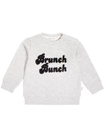Brunch Bunch Knit Top, Heather Grey
