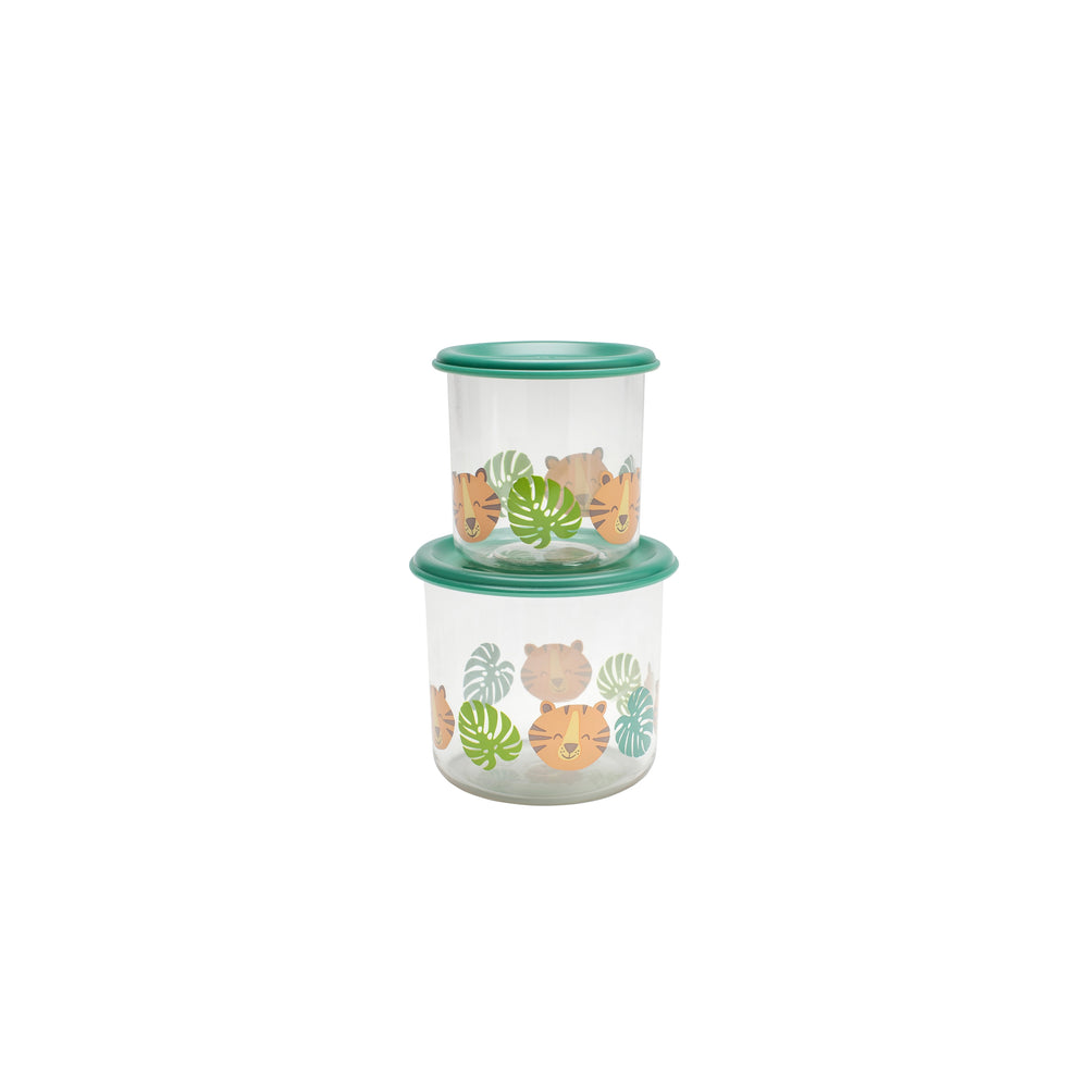 Tiger Good Lunch Snack Containers - Large, Set of Two