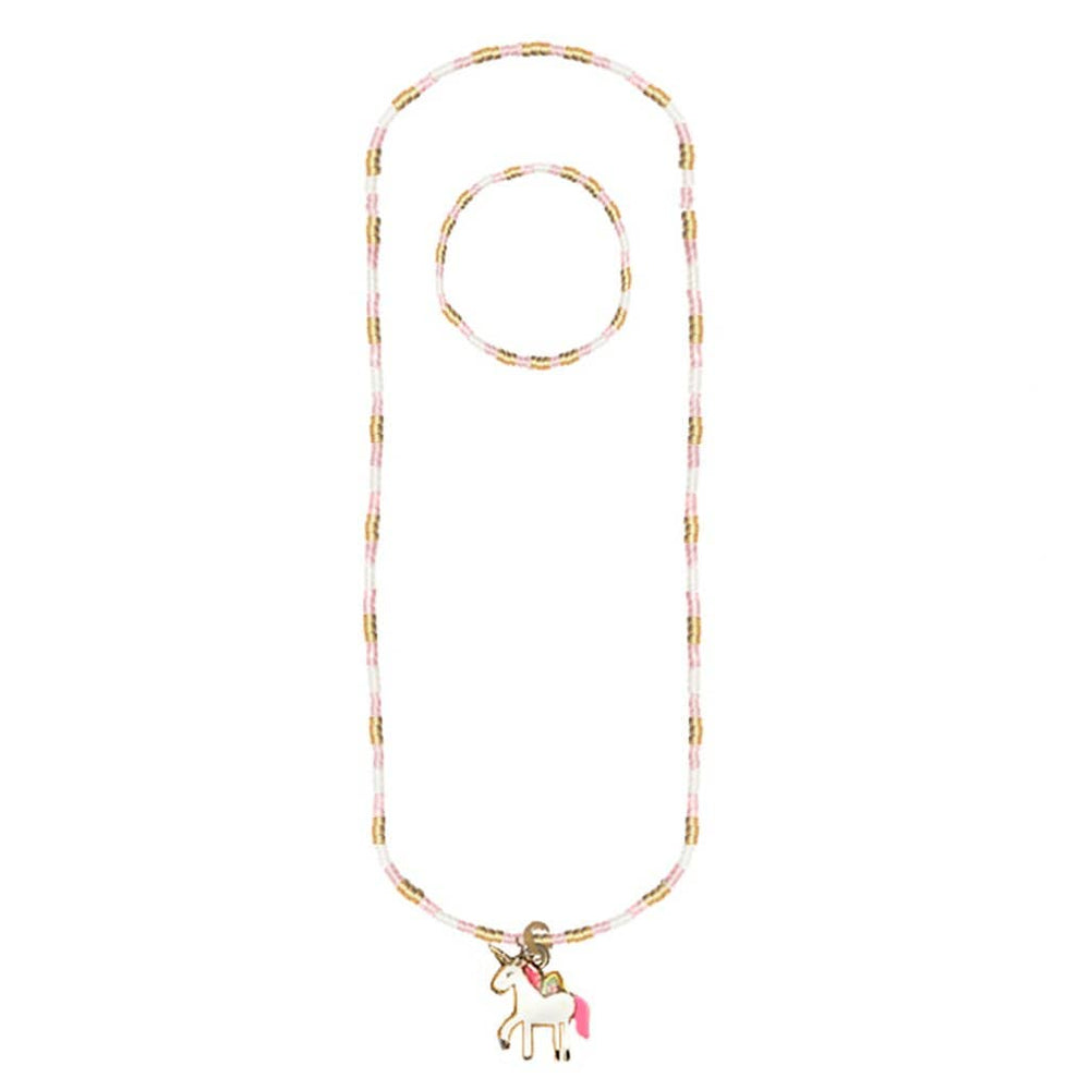 Unicorn Necklace and Bracelet Set