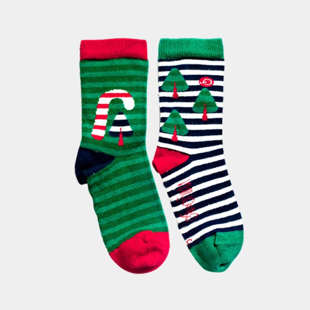 Candy Cane Organic Cotton Kids Socks
