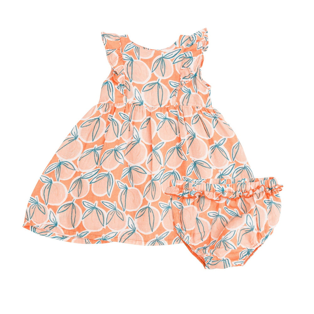 Peachy Dress and Diaper Cover, Canteloupe