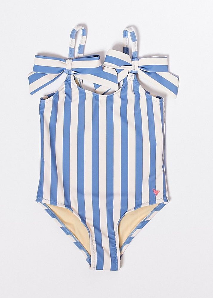 Lulu Swim Suit, Riviera Stripe/Multi Leopard