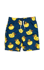 Mid Length Swim Trunks, Retro Duck