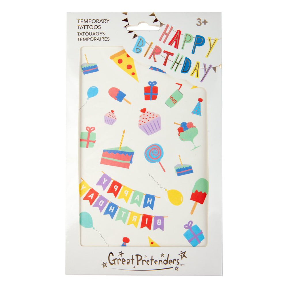 Happy Birthday Temporary Tattoos Great Pretenders