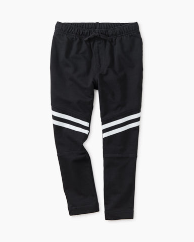 Speedy Striped Baby Joggers, Jet Black