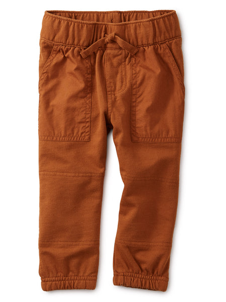 Baby Woven Patch Pocket Joggers, Ginger Bread