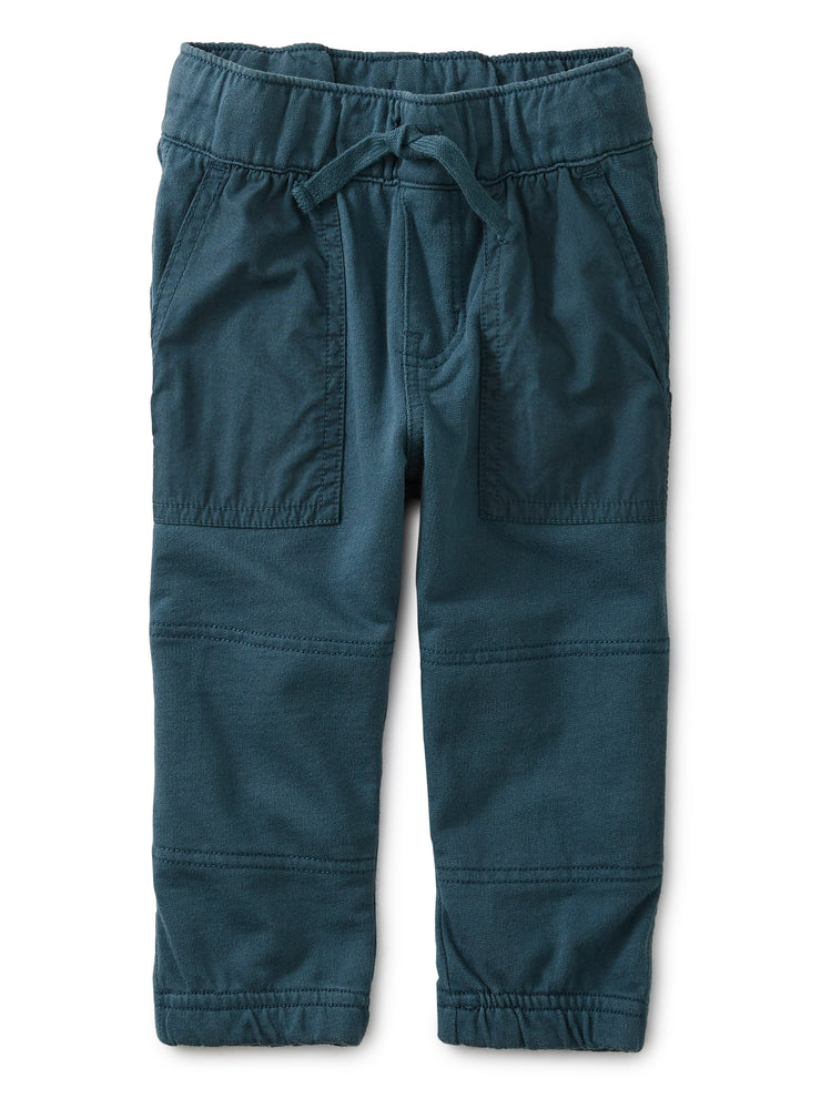 Baby Woven Patch Pocket Joggers, Bedford Blue Tea Collection