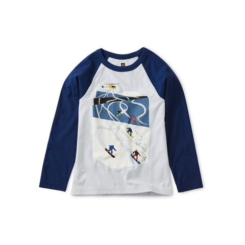 Ski Slopes Raglan Tee, Ice