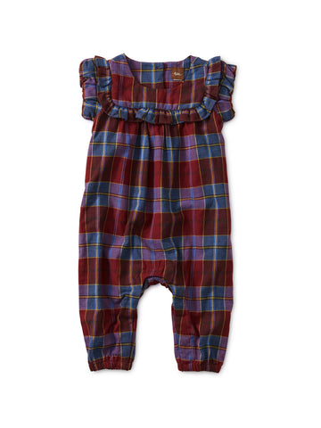 Family Plaid Ruffled Romper