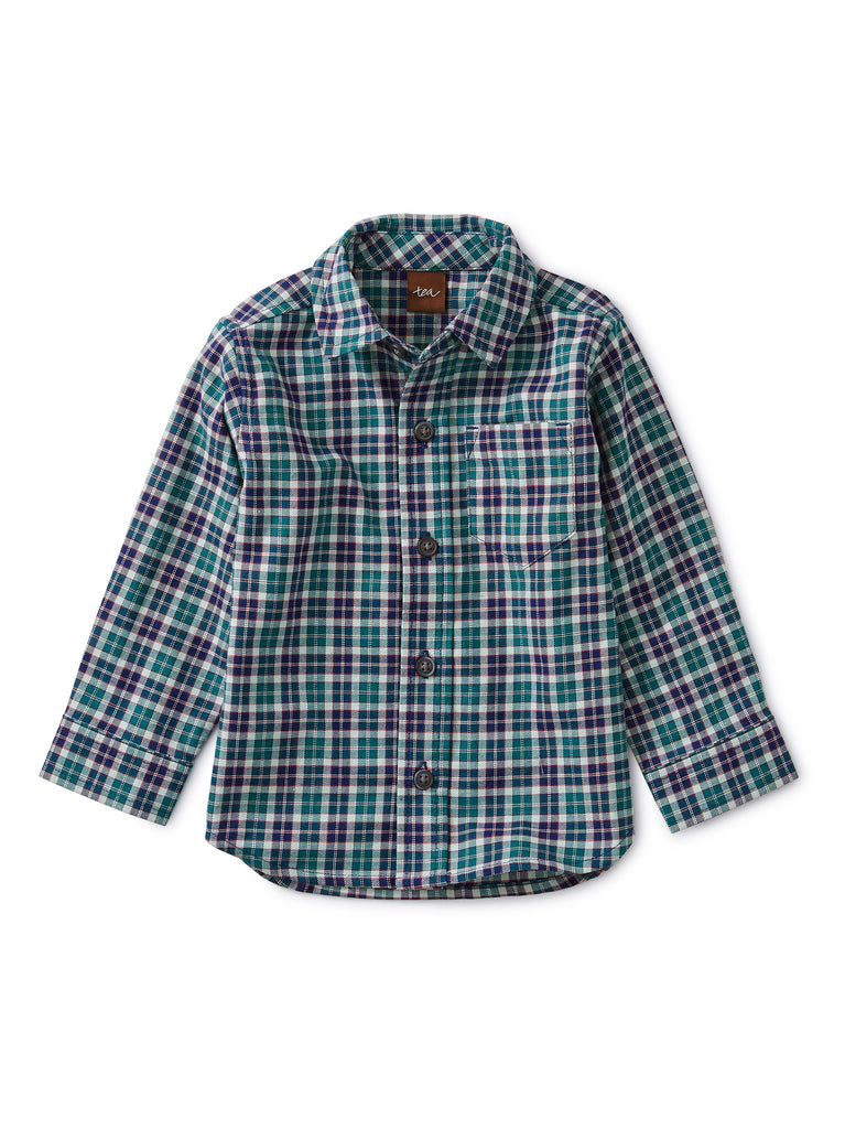 Patterned Button Up Shirt, Forest Plaid