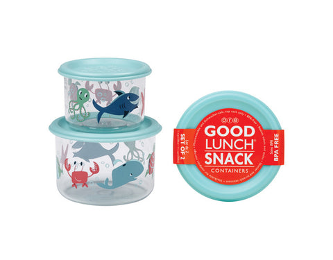 Good Lunch Snack Containers - Small Set of Two, Ocean