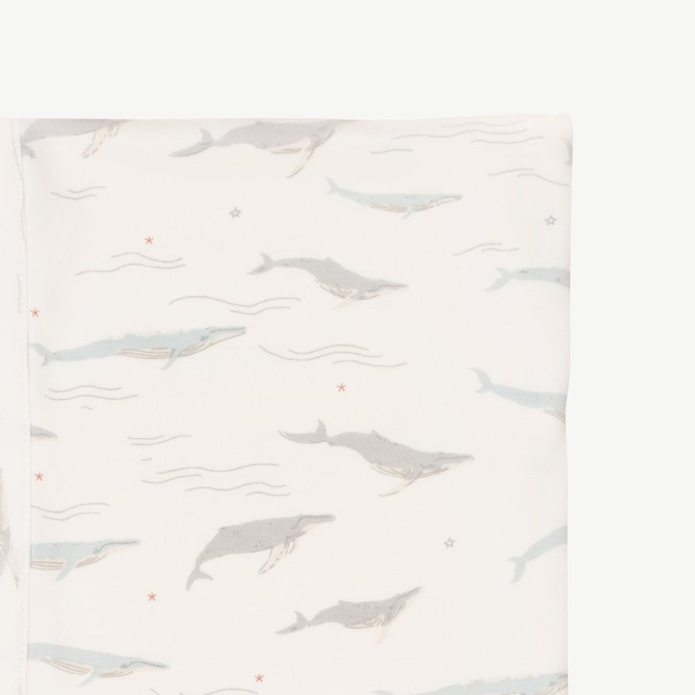 Passing Whales Double Sided Blanket, Eco White