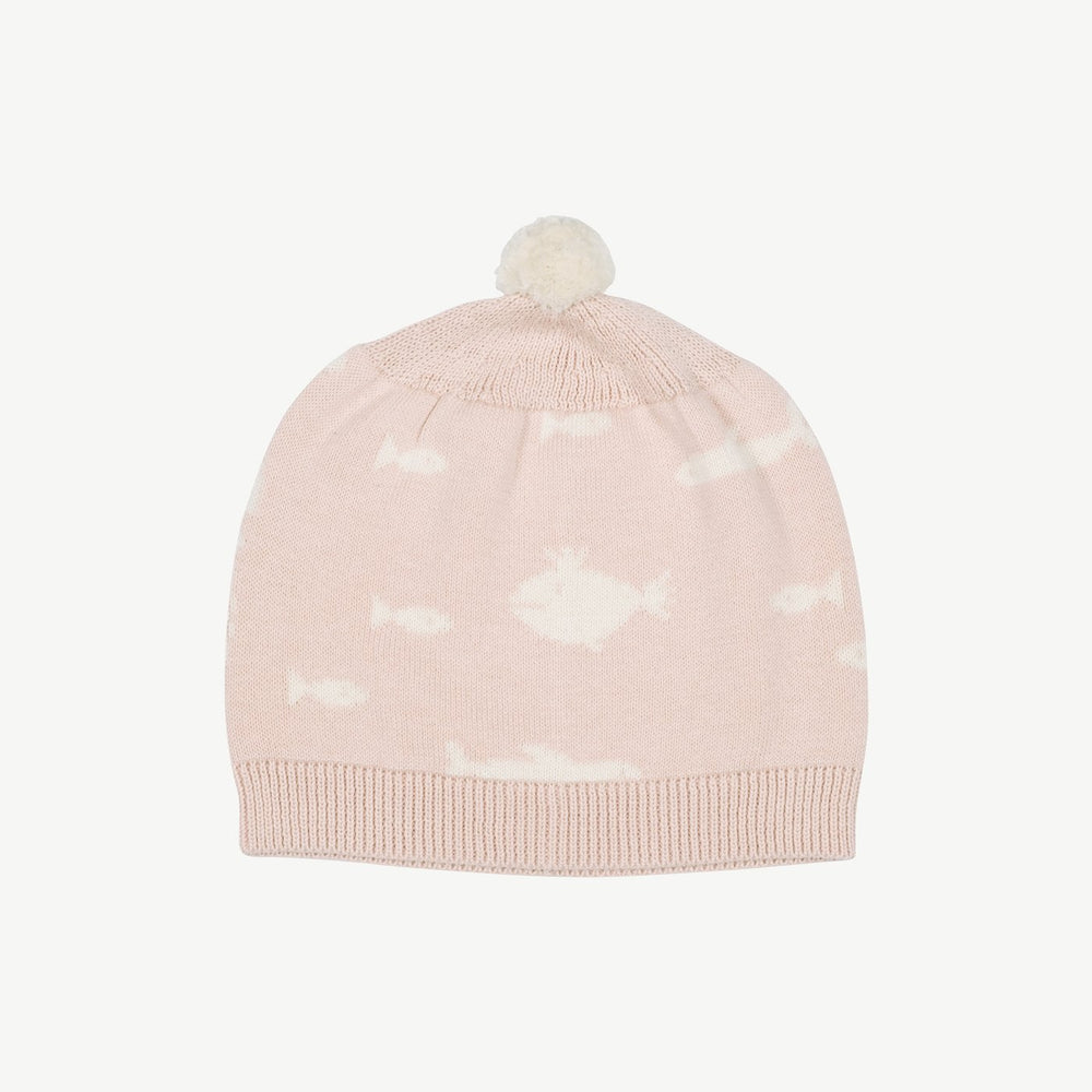 Red Caribou Stanger Fish Knit Beanie, Heavenly Pink