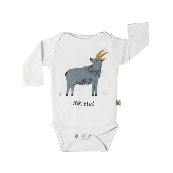 Long-Sleeve Onesie, Mr. Blue
