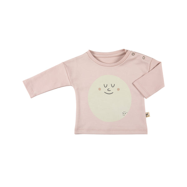 Basic Long-Sleeve T-Shirt, Happy Moon