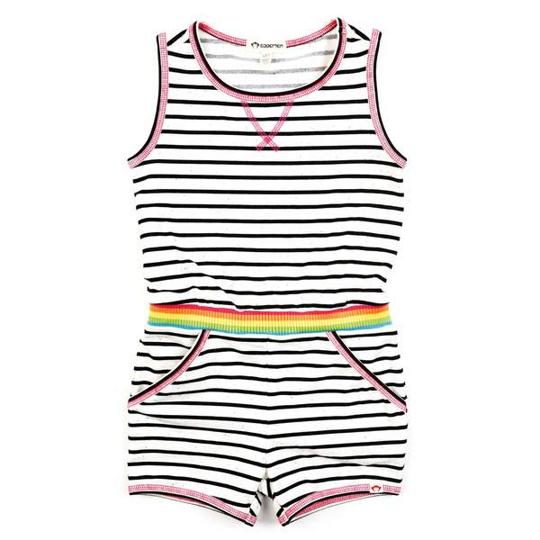 Abby Romper, Novelty Stripe