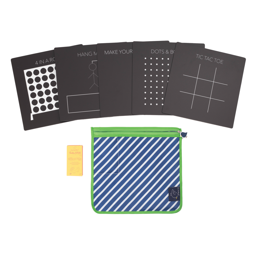 Bored Board Set with Zipper Pouch, Game Boards