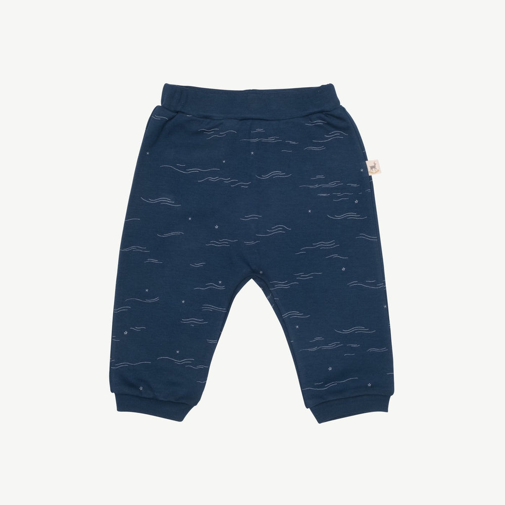 Tides & Stars Basic Pants, Poseidon Blue