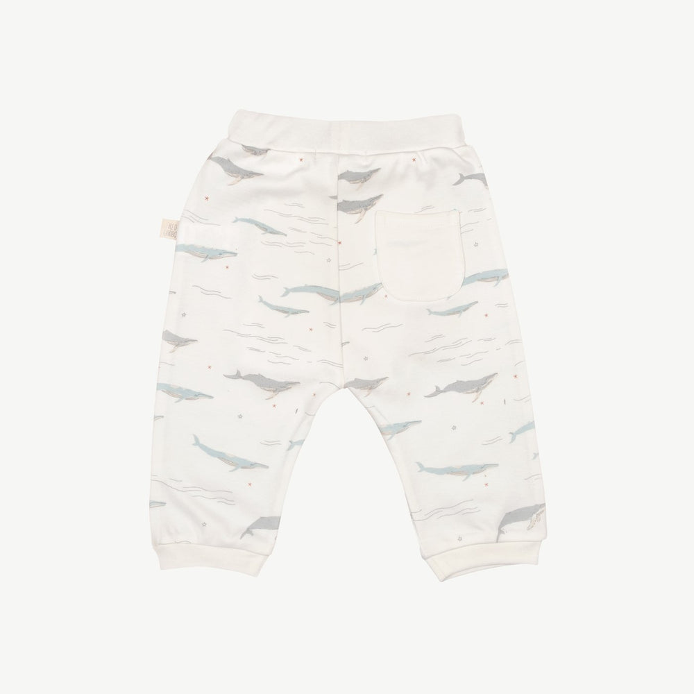 Passing Whales Basic Pants, Eco White