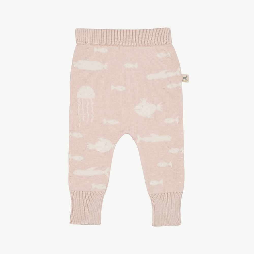Stranger Fish Knit Pants, Heavenly Pink