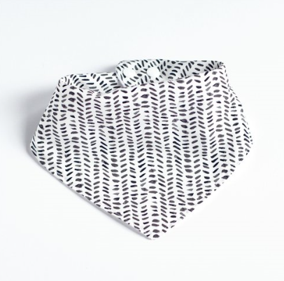 Bandana Bib in Gray Watercolor