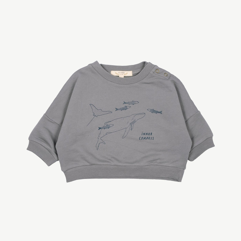 Inner Compass Sweatshirt, Charcoal Grey