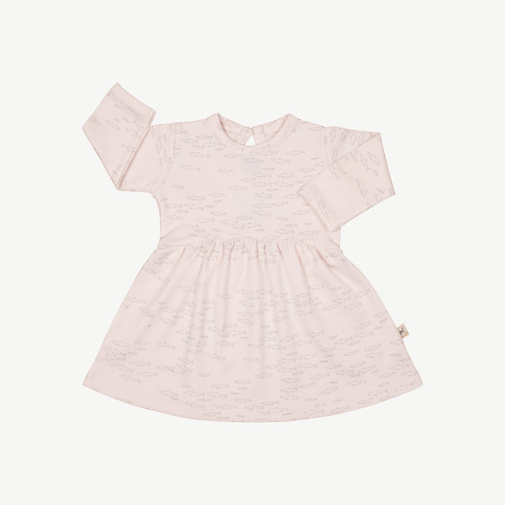 Schooling Fish Baby Dress, Heavenly Pink