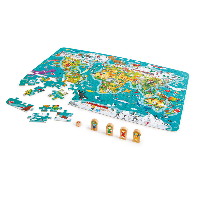 2-in-1 World Tour and Puzzle Game Hape Toys