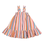 Emma Dress, Multi Stripe