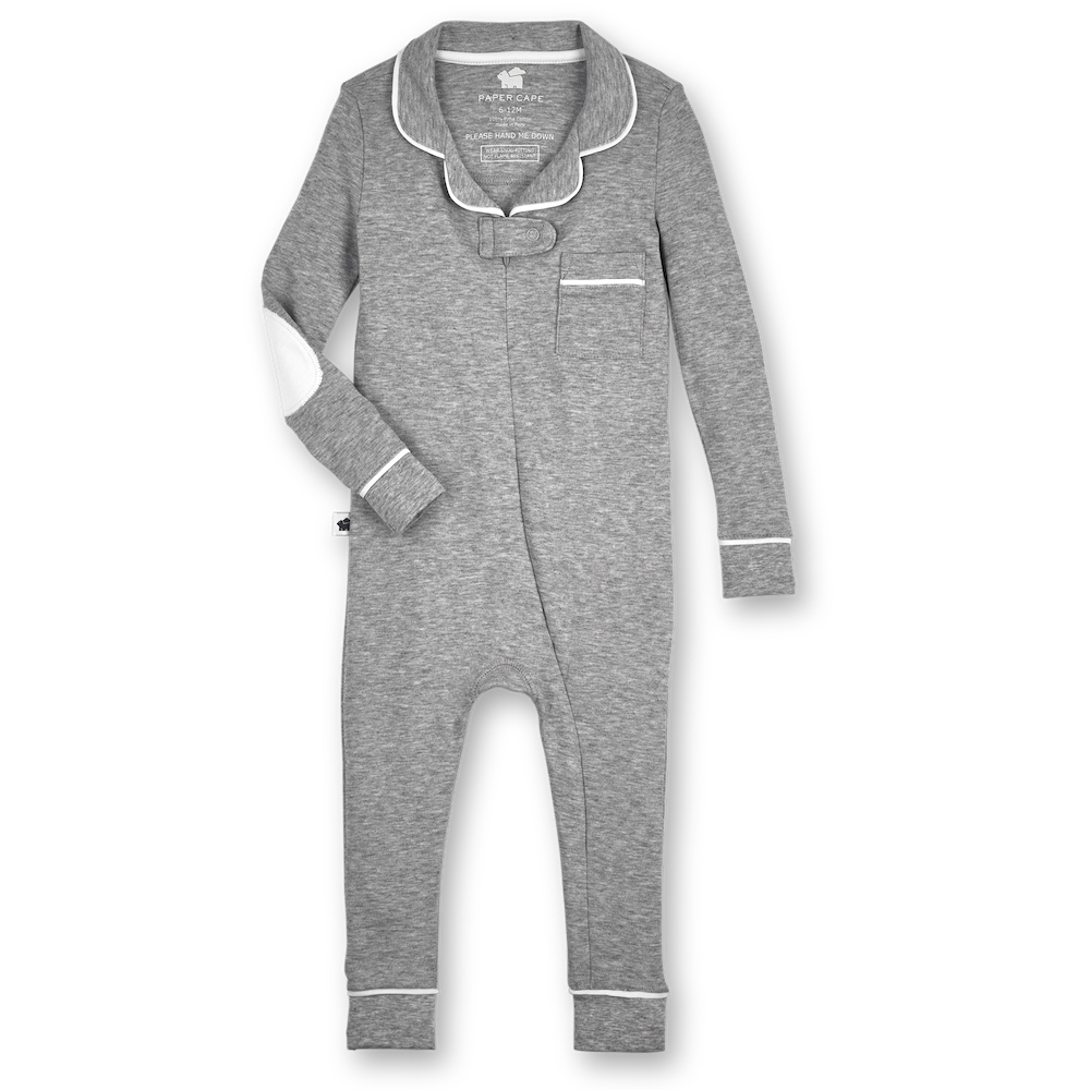 Footless Pajama Onesie 2.0, Heather Grey