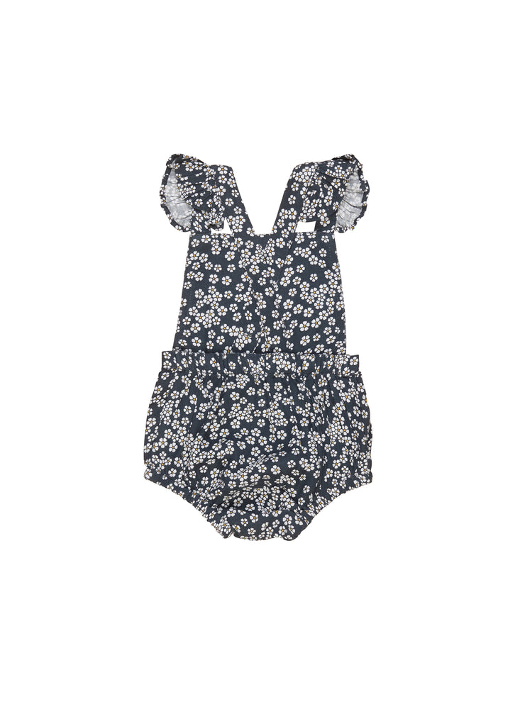 Flower Frill Playsuit, Ink