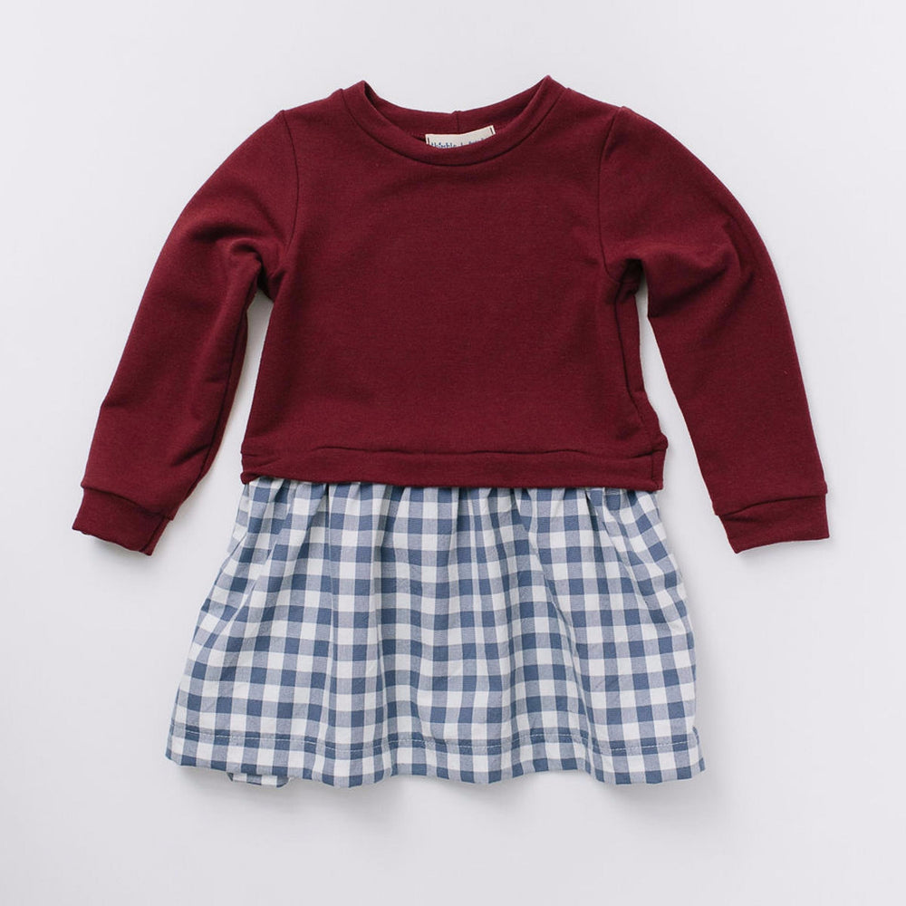 Sweatshirt Dress, Cranberry