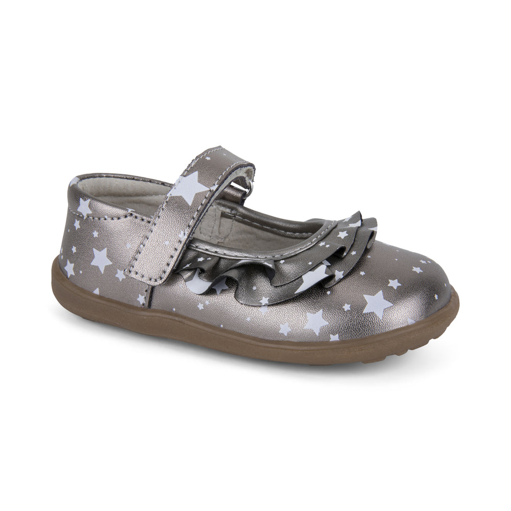 Belle II Mary Jane, Pewter Metallic See Kai Run