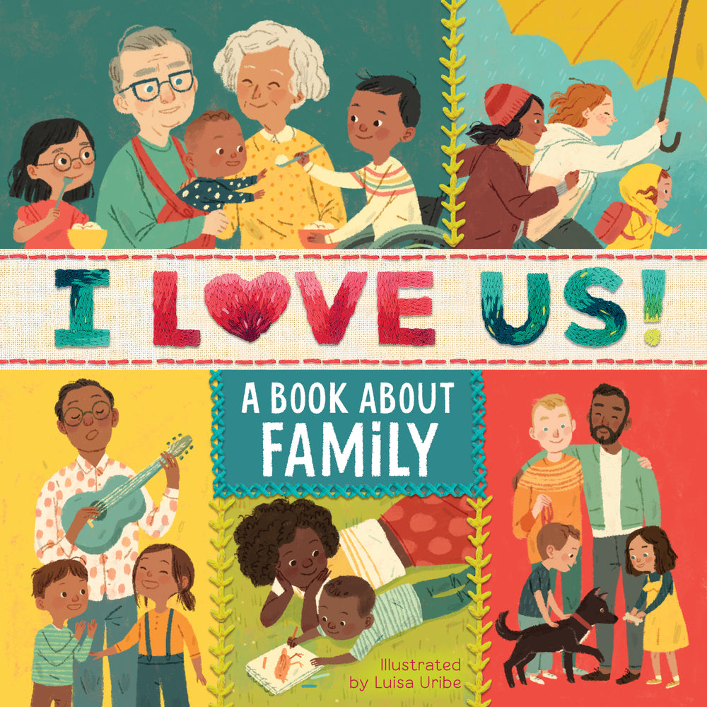 I Love Us: A Book About Family (with mirror and fill-in family tree)  by Houghton Mifflin Harcourt and Luisa Uribe