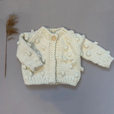 Popcorn Sweater, Cream