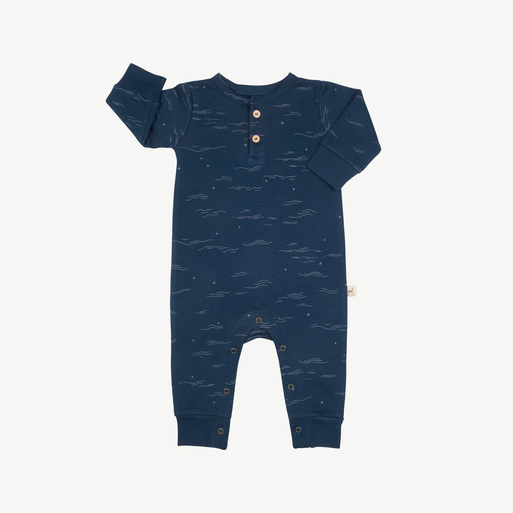 Tides and Stars Jumpsuit, Poseidon Blue