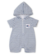 Breaching Whales Terry Romper, Blue