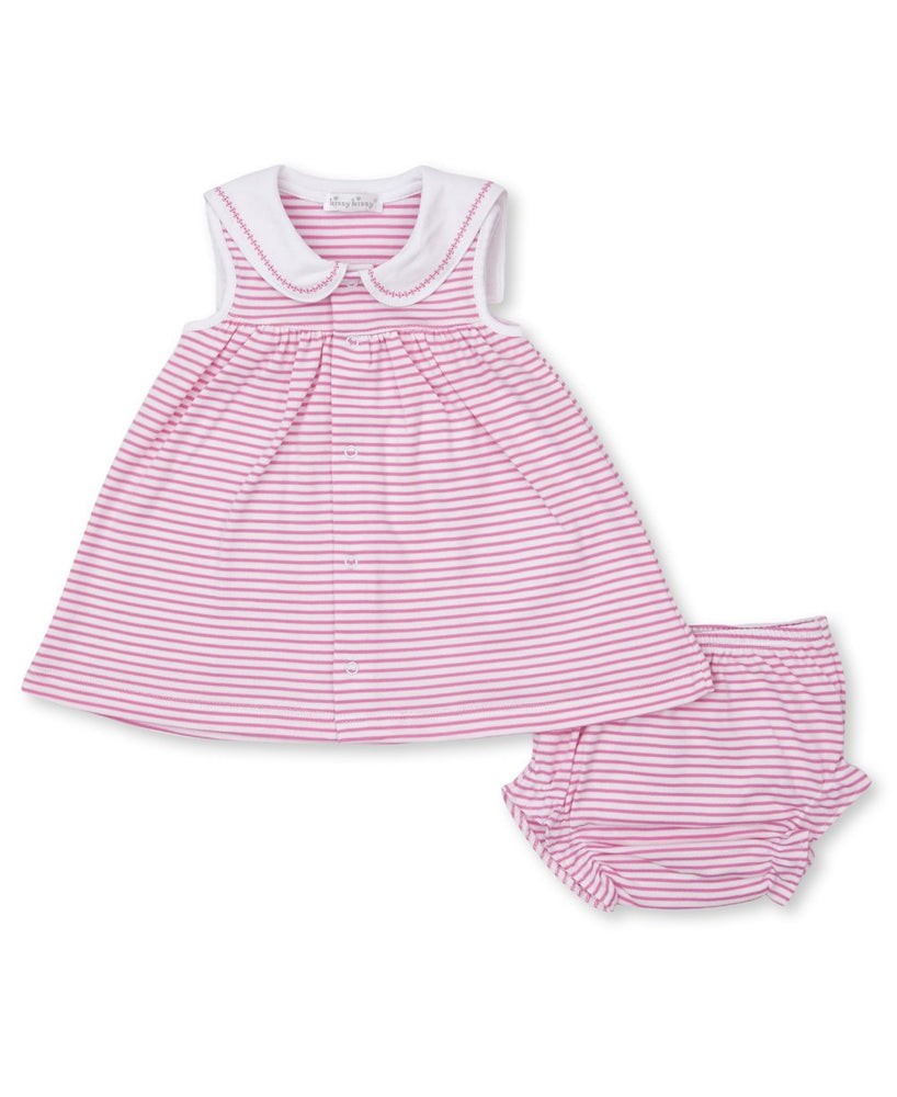 Breaching Whales Dress Set, Fuchsia