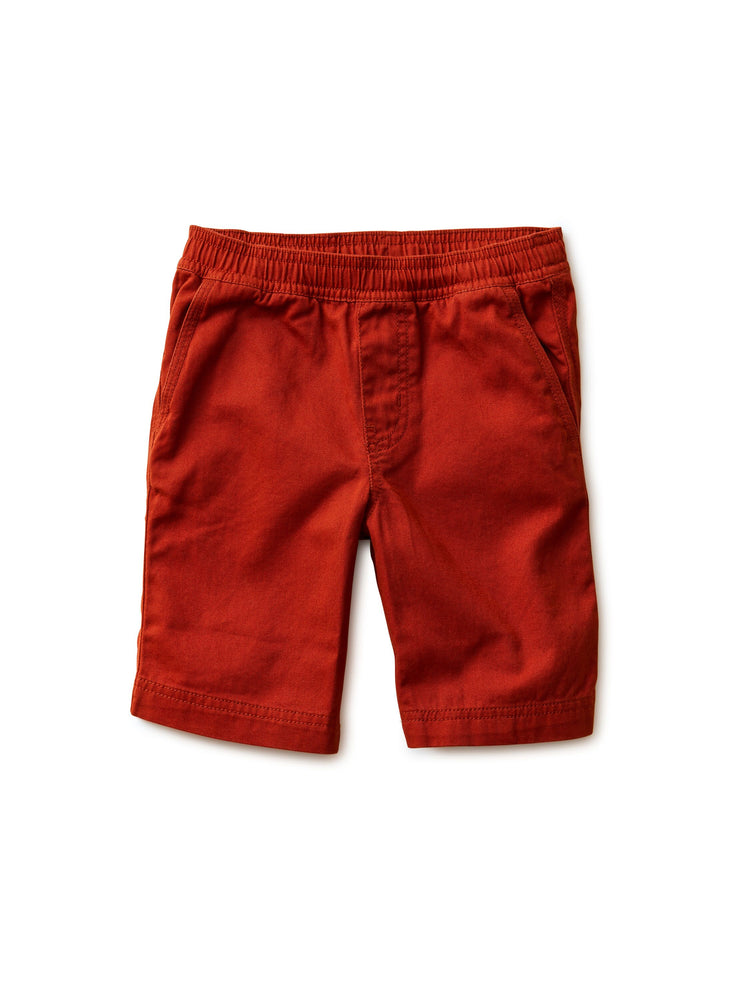 Easy Does It Twill Shorts, Dark Maple Tea Collection