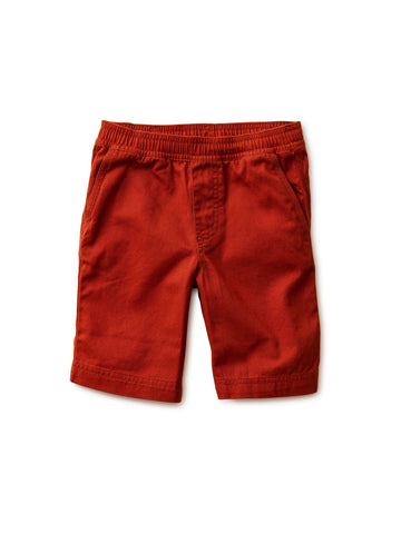 Easy Does It Twill Shorts, Dark Maple